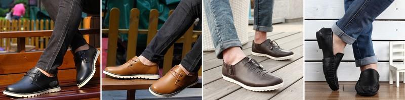 красивые мужкие туфли-мокасины