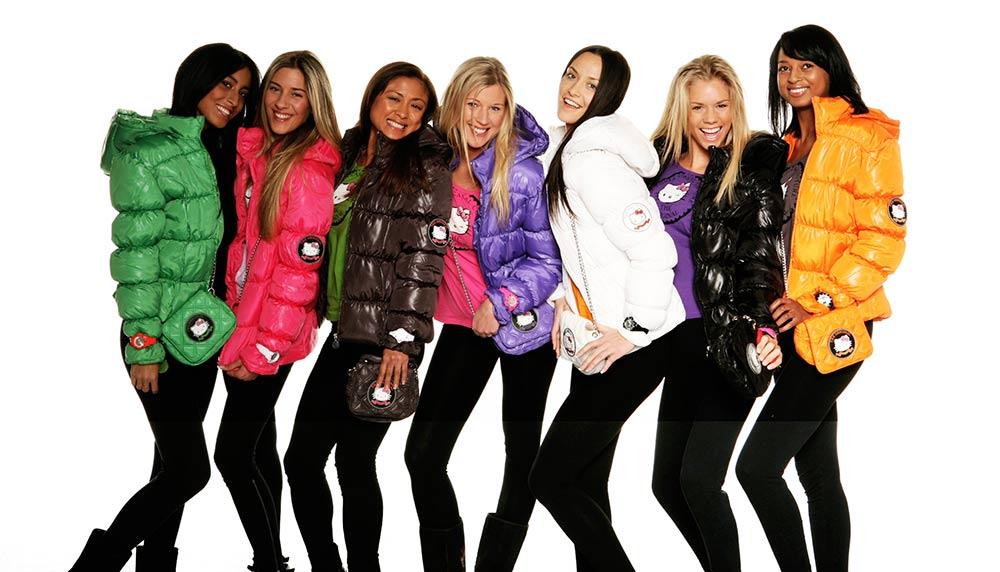 Девушки в куртках