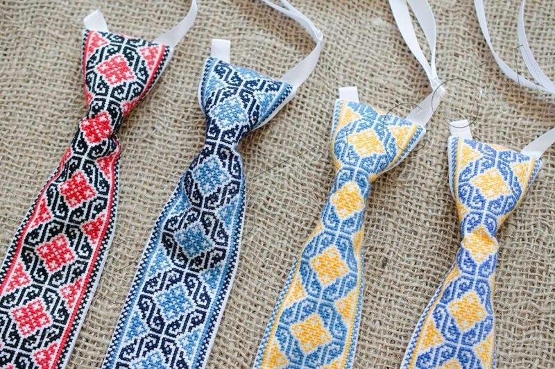 красивые галстуки в украинском стиле