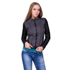 Куртка Mustang jeans модель MU W14-Feni black/grey-blue купить cо скидкой