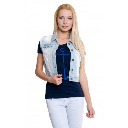 Жилет Only модель ON 15086679 Light Blue Denim фото товара