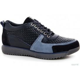Мужские туфли Forester 7360-89 Черные артикул KDF-7360-89