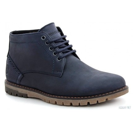 Мужские ботинки Forester 7784-155 Синяя кожа артикул KDF-7784-155 распродажа
