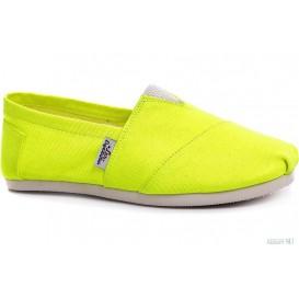 Летняя обувь Las Espadrillas Electric Yellow 3015-17 Яркосалатовые артикул KDF-3015-17 распродажа