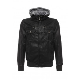 Куртка кожаная Forex артикул FO011EMIGW31 распродажа