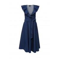 Платье джинсовое AMELIE FRILL COLLAR DENIM DRESS LOST INK