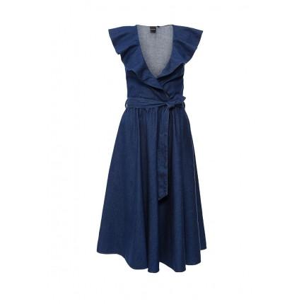 Платье джинсовое AMELIE FRILL COLLAR DENIM DRESS LOST INK артикул LO019EWGSA73 фото товара
