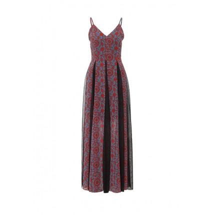 Платье ALYSSA PRINT AND MESH INSERT MAXI LOST INK артикул LO019EWGTV70
