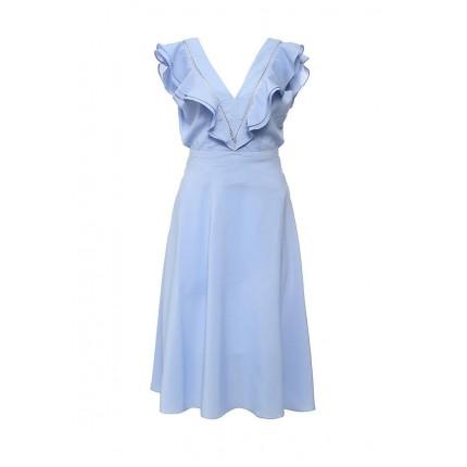 Платье JEMMA LADDER INSERT FRILL SLEEVE DRESS LOST INK артикул LO019EWHDV99 распродажа