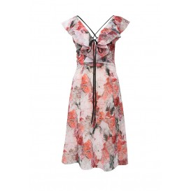 Платье JADE CRYSTAL FLOWER PRINT DEEP V DRESS LOST INK артикул LO019EWHDW01 фото товара