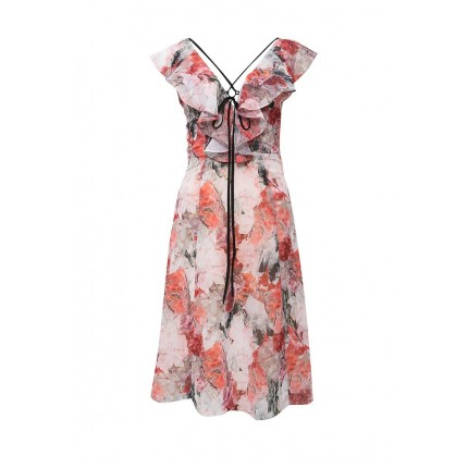 Платье JADE CRYSTAL FLOWER PRINT DEEP V DRESS LOST INK артикул LO019EWHDW01 фото товара
