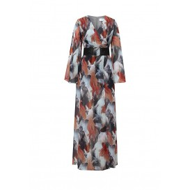Платье AUBERY KOI PRINTED MAXI DRESS LOST INK модель LO019EWHDW05 купить cо скидкой