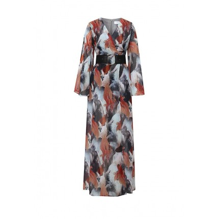 Платье AUBERY KOI PRINTED MAXI DRESS LOST INK модель LO019EWHDW05 купить cо скидкой