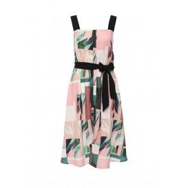 Платье BLOCK ZEN LEAF PRINT WAISTED SHIRT DRESS LOST INK артикул LO019EWHEL94 фото товара
