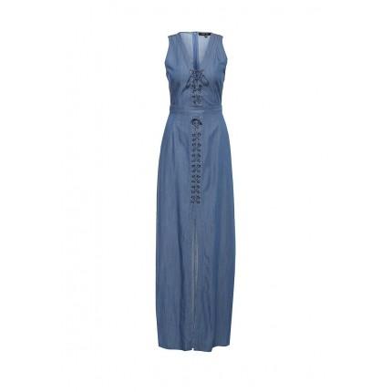 Платье DEMI DENIM MAXI DRESS LOST INK артикул LO019EWHHM97 cо скидкой