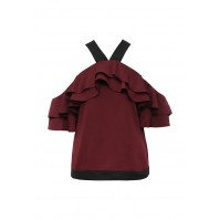 Топ OFF SHOULDER RUFFLE BLOUSE LOST INK