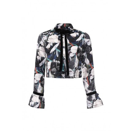 Блуза OLIVE LEAF CROP SHIRT LOST INK артикул LO019EWJOU53 купить cо скидкой