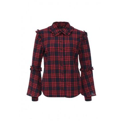 Блуза CHECK SHIRT WITH RUFFLE DETAIL LOST INK модель LO019EWJOU60 купить cо скидкой