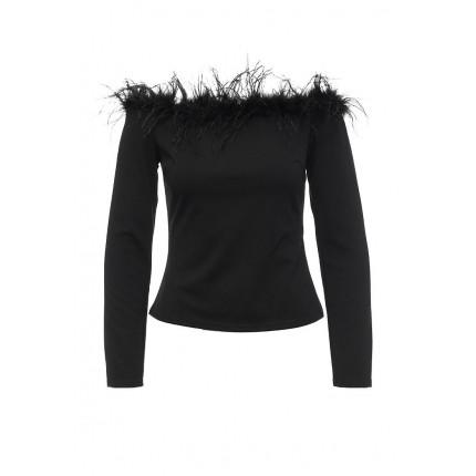 Блуза FEATHER TRIM BARDOT LOST INK артикул LO019EWJOV30 распродажа