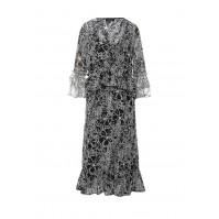 Платье RACH FRILL NEGATIVE MONO DRESS LOST INK