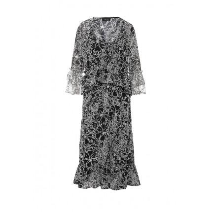 Платье RACH FRILL NEGATIVE MONO DRESS LOST INK артикул LO019EWJOV76 фото товара