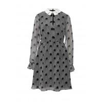 Платье AURELIA SPOT PRINT COLLAR DRESS LOST INK