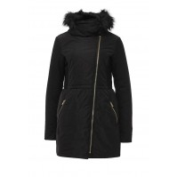 Куртка утепленная SKIRTED PADDED FUR COLLAR COAT LOST INK