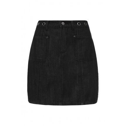 Юбка джинсовая A-LINE EYELET DENIM MINI LOST INK модель LO019EWJOY56 распродажа
