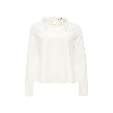 Блуза FRILL NECK TOP WITH CUT OUT LOST INK артикул LO019EWMZJ33