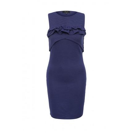 Платье FRILL YOKE 2IN1 TEXTURED BODYCON LOST INK артикул LO019EWNIS30 распродажа