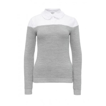 Джемпер THE RIBBED JUMPER WITH FRILL COLLAR YOKE LOST INK модель LO019EWNRB40 распродажа