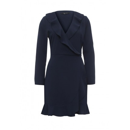 Платье RUFFLE WRAP DRESS LOST INK артикул LO019EWNRB48 купить cо скидкой