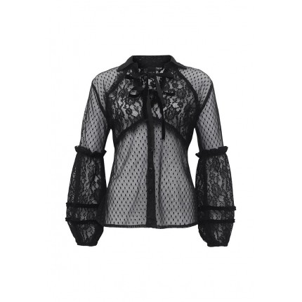 Блуза FULL SLEEVE LACE MIX SHIRT LOST INK артикул LO019EWNVT30 фото товара