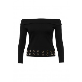 Джемпер BARDOT TOP WITH EYELET TRIM Lost Ink Curve