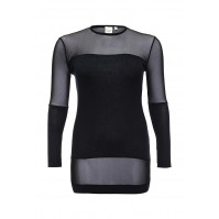 Туника TUNIC WITH MESH PANELS Lost Ink Curve