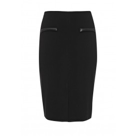 Юбка Pencil Skirt in Ponte with PU pockets Lost Ink Curve