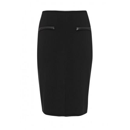 Юбка Pencil Skirt in Ponte with PU pockets Lost Ink Curve модель LO030EWLUW46 распродажа