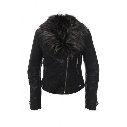 Куртка кожаная QED London модель QE001EWHZU85 cо скидкой