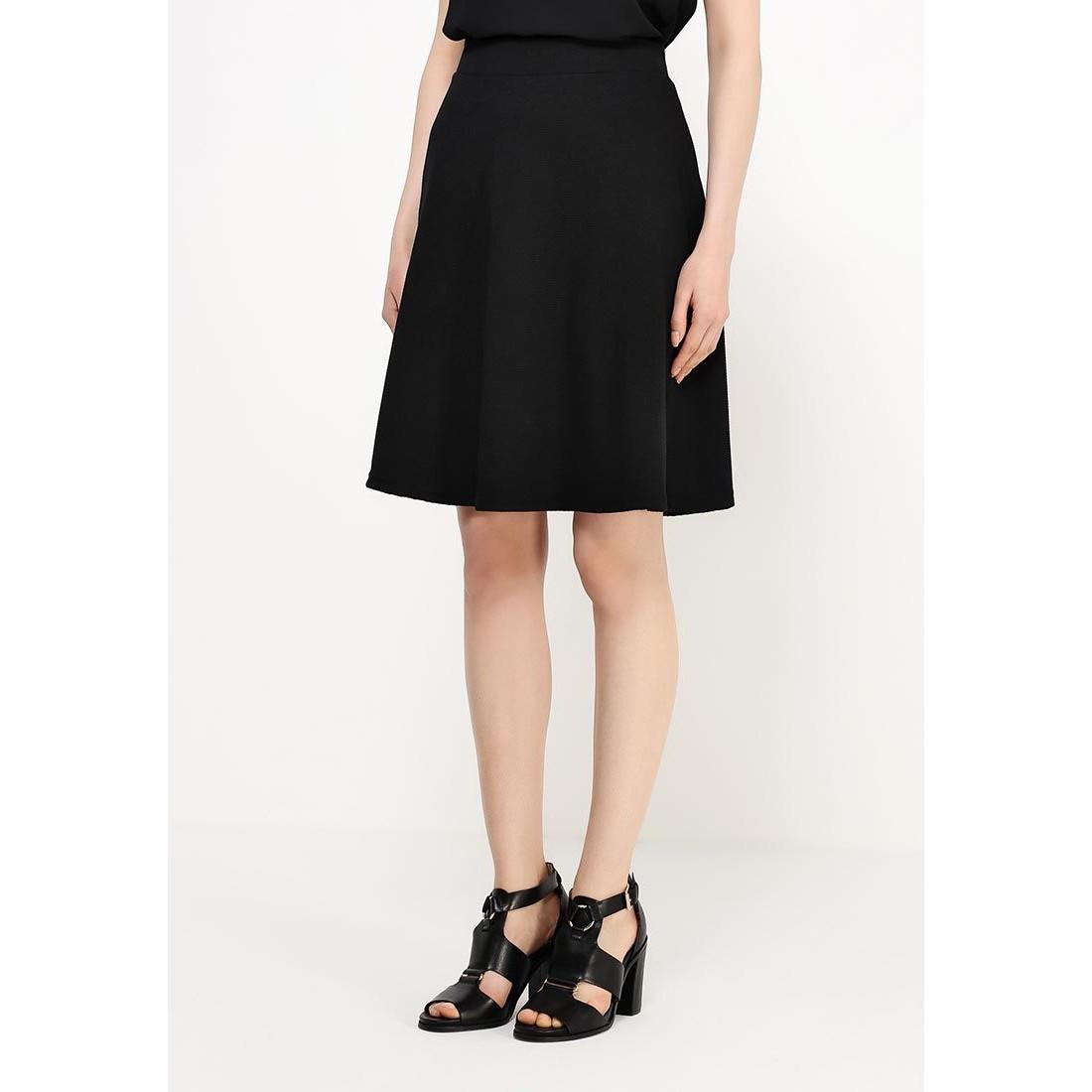 юбки черного цвета в крупный редкий белый горох фото