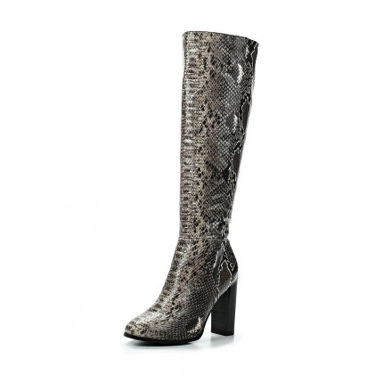 Сапоги HIGH HEELED SNAKE PRINT KNEE-HIGH BOOT LOST INK артикул LO019AWEFJ92