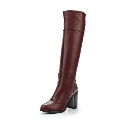 Сапоги ROUND TOE BROGUE KNEE HIGH BOOT OXBLOOD LOST INK артикул LO019AWEXY69 фото товара
