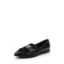Лоферы BERLY FRINGED FLAT LOAFER - BLACK LOST INK модель LO019AWGBF05