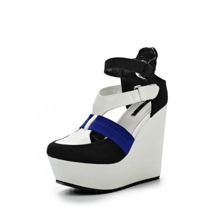 Туфли SISSY SPORTS WEDGE - BLACK/WHITE/COBALT LOST INK модель LO019AWGIT39 купить cо скидкой