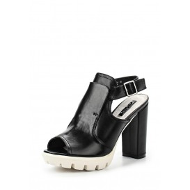 Босоножки RAINE HIGH VAMP CLEAT SOLE BLOCK HEEL SANDAL - BLACK LOST INK модель LO019AWGIT44 распродажа