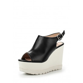 Босоножки ROBIN HIGH VAMP CLEAT SOLE SLIGBACK WEDGE - BLACK/WHITE LOST INK модель LO019AWGIT45 купить cо скидкой