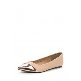 Балетки BELISE ASYMETRIC TOE CAP BALLERINA NUDE & METALLIC LOST INK модель LO019AWGMI19 распродажа