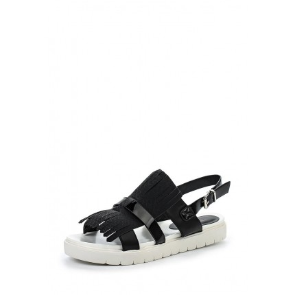 Сандалии NOVAL MONO FRINGE SANDAL BLACK & WHITE LOST INK модель LO019AWGMI64 фото товара