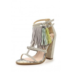 Босоножки RAISE COLOURED TASSLE TRIM BLOCK HEEL SANDAL - LIGHT GREY LOST INK модель LO019AWGOJ01 фото товара