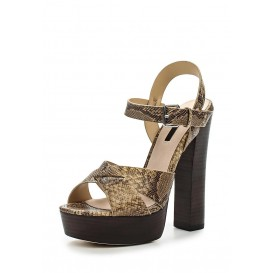 Босоножки ROXA HIGH BLOCK HEEL PLATFORM SANDAL - SNAKE LOST INK модель LO019AWGOJ10