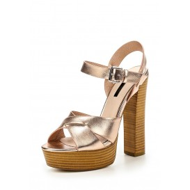 Босоножки ROXA HIGH BLOCK HEEL PLATFORM SANDAL - ROSE GOLD LOST INK артикул LO019AWGOJ11